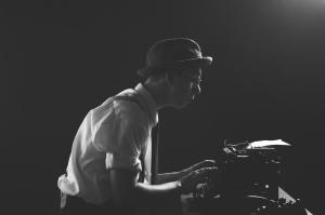 Black-and-white-writer